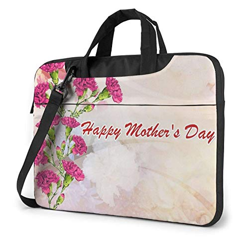 XCNGG Bolso de hombro Computer Bag Laptop Bag, Happy Mothers Day Business Briefcase Protective Bag Cover for Ultrabook, MacBook, Asus, Samsung, Sony, Notebook 15.6 inch