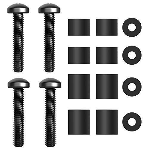 TV Mounting Hardware Screws M8 x 45mm Screws Bolts with 25mm Long Spacers for Samsung TVs Monitor Display M8 Screws for Samsung LG Vizio Philips Sony Bravia Sharps TV Wall Mount Bracket