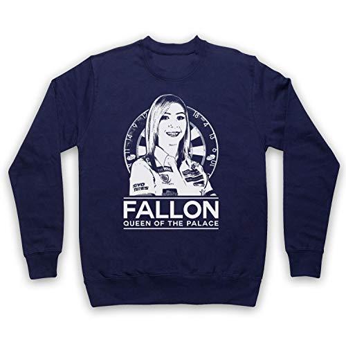My Icon Art & Clothing Fallon Queen of The Palace Darts Tribute Erwachsenen Sweatshirt, Ultramarinblau, Small