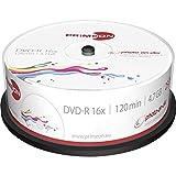 PRIMEON DVD-R 4.7GB/120Min/16x Cakebox, photo-on-disc, Inkjet Full Size Printable Surface (25 Disc)