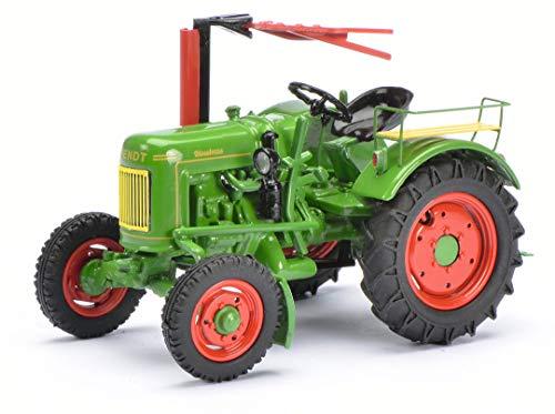 Schuco 450262900 Fendt F20G Dieselross, Traktor mit Mähbalken, Modellauto, 1:43, grün