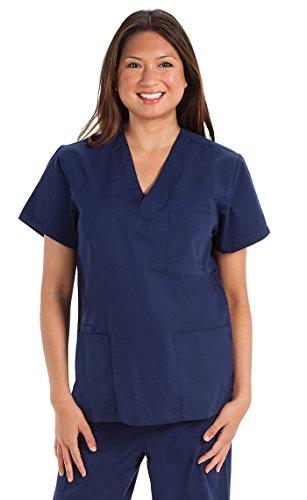 Prestige Medical 302-NAV-M - Blusa de enfermero unisex, talla M, color azul marino