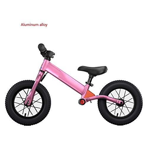 YumEIGE Loopfiets voor kinderen, aluminiumlegering, balance-fiets, fietsen, kinderfiets 2-6 jaar oud, belasting 30 kg, gebruikshoogte 31,4-51,1 inch roze