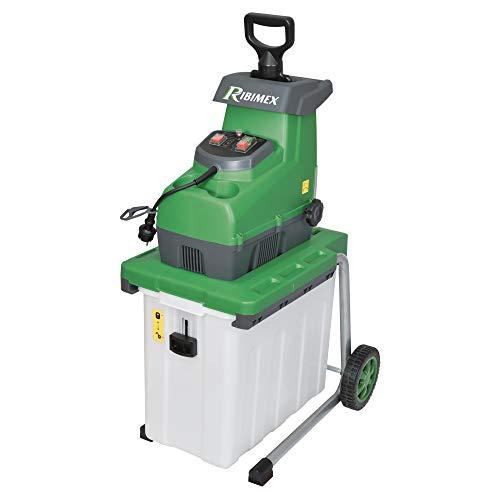 Ribimex PRBVB2800 Biotrituratore Elettrico, 2800 W, Verde/Grigio