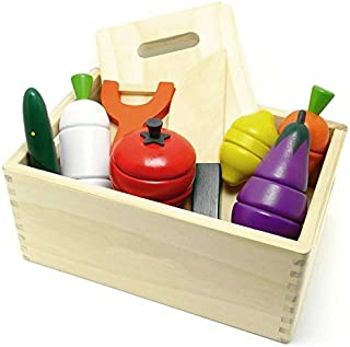 Pretend Food Kitchen Play Set Wooden Toys