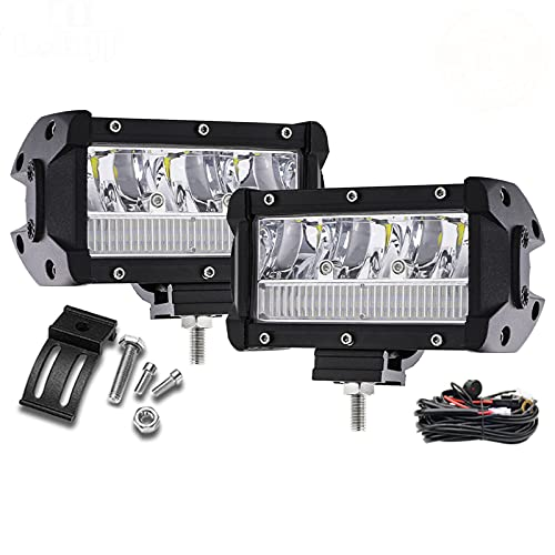 Luz De Trabajo Led Superbrillante Vigas Led Combinadas De 5 Pulgadas Luz De Barra LED 9000LM Para Conducir Todoterreno 4X4 4WD SUV Tractor 12V 24V,2pcs