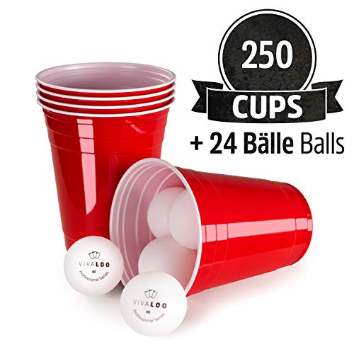 VIVALOO Red Cups 250 w 24 Balls