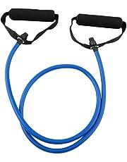 حبل سحب لتمارين اللياقة البدنية بالمنزل، معدات مرنة مقاومة، أشرطة لممارسة تمارين اليوجا، مناسب لصالات الألعاب الرياضية، أزرق