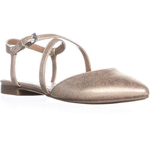 Indigo Rd. Womens Genetic Fabric Pointed Toe Slingback Slingback, Gold, Size 8.5