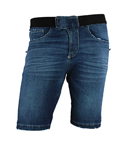 Jeanstrack Turia BR Jeans Pantalón de Escalada, Hombre, Rinse, L