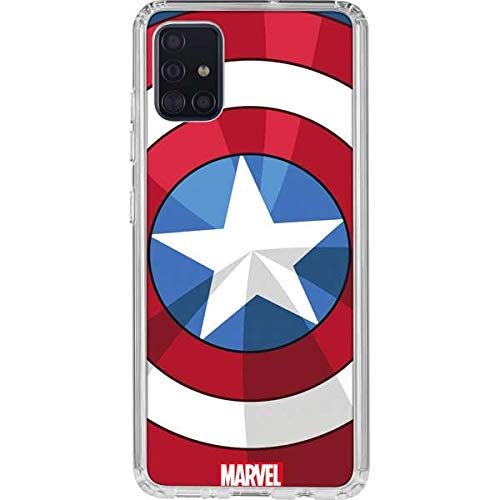 Skinit Clear Phone Case for Galaxy A51 - Officially Licensed Marvel Captain America Emblem Design