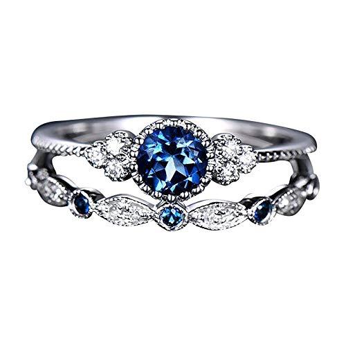XTBL Damenmode Diamantring Paar Schmuck 1 Paar Ringe Set Diamant Schriftzug weiblichen Verlobungsring Ewigkeitsring Damenring für Mütter und Töchter Schwestern verwendet