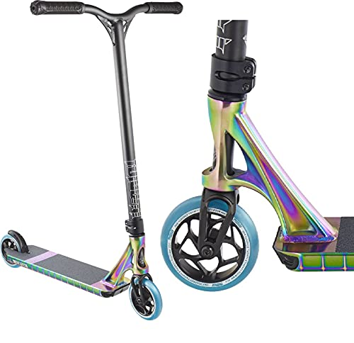 Patinete Blunt Prodigy S8 Park Stunt-Scooter H = 86 120 mm 3,48 kg + pegatina Fantic26 (Oilslick Rainbow Neochrome)