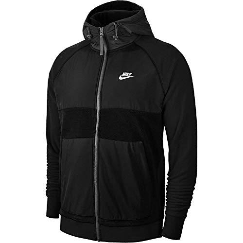 Nike Sportswear Softshelljacke für Herren XXL schwarz/Off-schwarz/Weiss