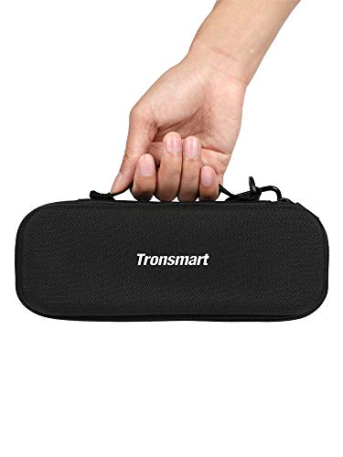 Tronsmart Hard Storage Travel Case Carry Case for T6 Plus, Force, Force+ Bluetooth Portable Speaker; Rugged EVA Shell with Weather Resistant Zippered Seal and Carabiner Style Clip