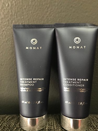 MONAT NEW!! INTENSE REPAIR TREATMENT SHAMPOO/&INTENSE REPAIR TREATMENT CONDITIONER TRAVELING SIZE SET! BOTH 60 ML/2.0 FL.OZ