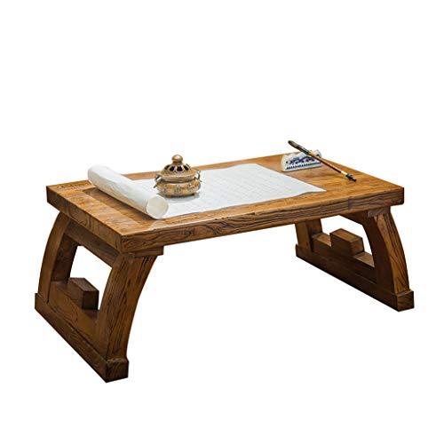 Tables Basse À Thé Simple Basse Rectangulaire Vieil Orme Salon Basse en Bois Massif Tatami Basse Lit Basse en Bois Massif Basses