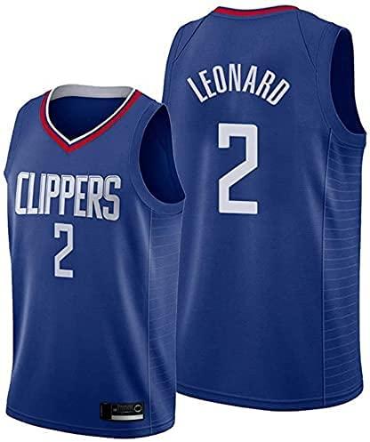 Ropa Jersey Men's, NBA Los Angeles Clippers # 2 Kawhi Leonard Basketball Jersey, Camiseta sin Mangas de la Camiseta de la Malla Transpirable(Size:/L,Color:G1)