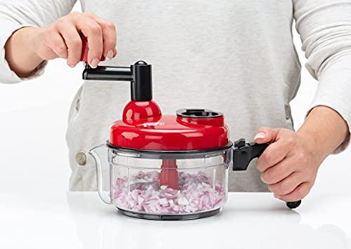 Crank Chop Food Chopper and Processor XL - Chop Dice Puree Vegetables Onions...