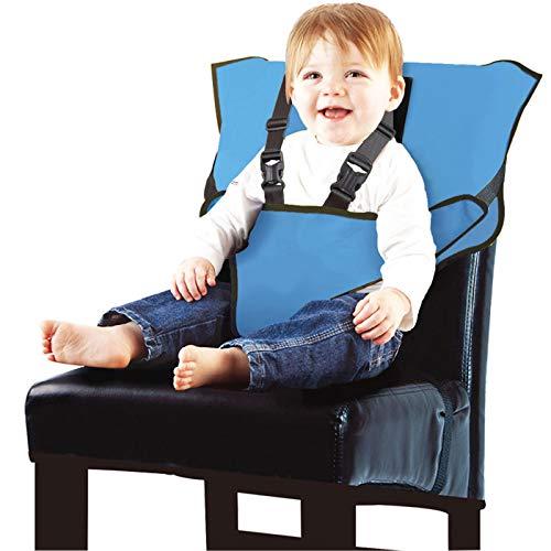 Arnés De Seguridad Infantil, Conveniente, Rápido Y Fácil, Adecuado para Todos Los Comidas (6-30 Meses) |,Azul