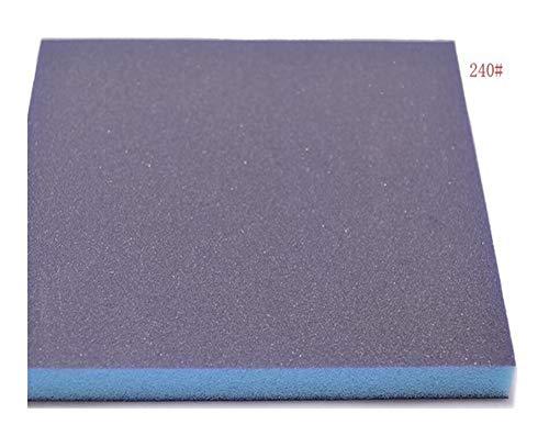 Sanding Sandpaper Sponge Brush 5 PCS Grit 120240320600 Sponge Sandpaper Double-sided Grinding Tool 140x120x12mm Sanding Sponge Block Polishing Sponge (Mesh : 240Grit 5pieces)