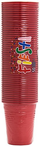 Aristea – 50 Vasos de Fiesta, Color Rojo