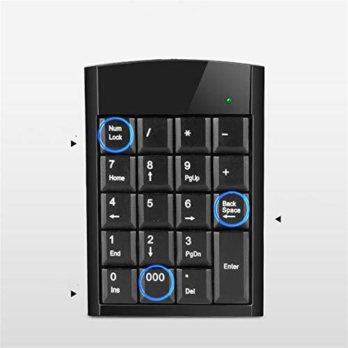 Teclado numérico portátil Teclado digital con cable Mini Slim USB 19 Teclas 000 Teclado numérico for Contabilidad Bank Securities Android Windows10 / 8/7 / Vista / XP Para laptops ( Color : 10Pieces )