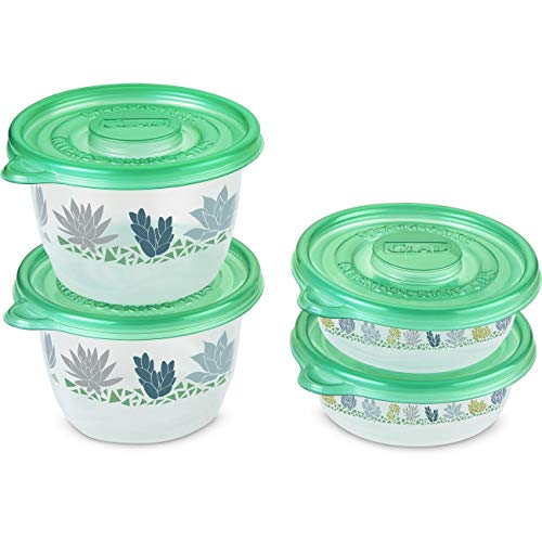 Glad Food Storage Containers, Matchware Round, Two 16 Ounce, Two 32 Ounce
