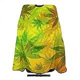 Rasta Marijuana Haircut Apron Dyeing Styling Cloth for Adult/Women/Men 55' X 66'