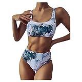 2021 Bikini Mujer Braga Alta Brasileño Traje de Baño Sexy Push Up para Mujer Conjunto de Bikinis para Mujer Tankini Ropa de Baño Dos Piezas para Verano Playa
