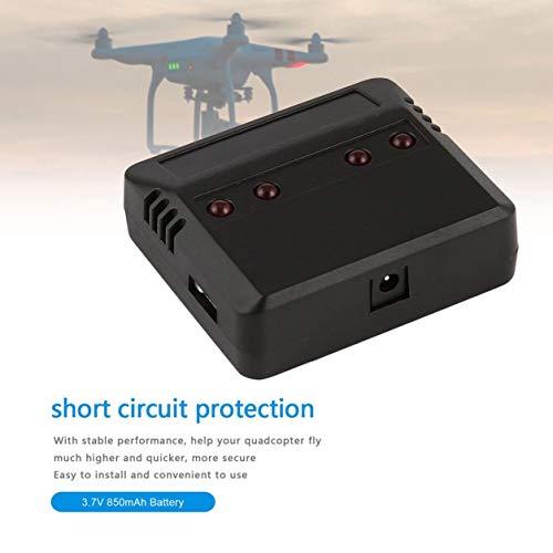 Kongqiabona-UK Nuova Versione aggiornata del Set di Caricabatterie Standard della Batteria Lipo + 4 batterie da 3,7 V 850 mAh per Il Drone Syma X5C X5C X5SC X5SW