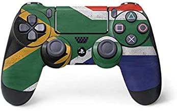 Skinit Decal Gaming Skin for PS4 Controller - Originally Designed South Africa Flag Distressed Design