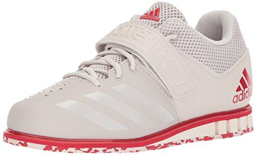 adidas Men's Powerlift.3.1 Cross Trainer, Chalk Pearl/Chalk Pearl/Scarlet, 12 UK