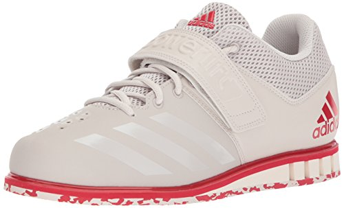 adidas Men's Powerlift.3.1 Cross Trainer, Chalk Pearl/Chalk Pearl/Scarlet, 12 UK