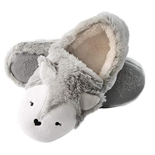 Caramella Bubble Fox Fleece Animal Cozy House Shoes