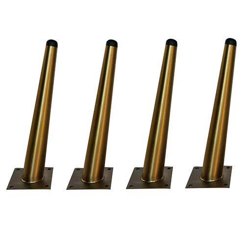 Gold Schräge Fußmöbelbeine, 20Cm Edelstahl Tischbeine Stützfüße, Für Tv-Schrank, Couchtisch, Schrankfüße, Schminktisch Diy Ersatzbeine,Schräge Kegel,250Mm.
