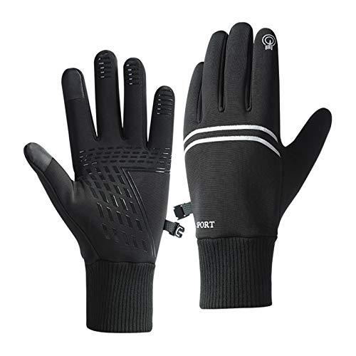 Guanti invernali caldi da ciclismo, guanti touch screen, antiscivolo, antivento, impermeabili,...