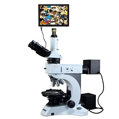 OMAX 50X-1000X 5MP Touchpad Screen Infinity Plan EPI/Transmitted Light Polarizing Lab Microscope
