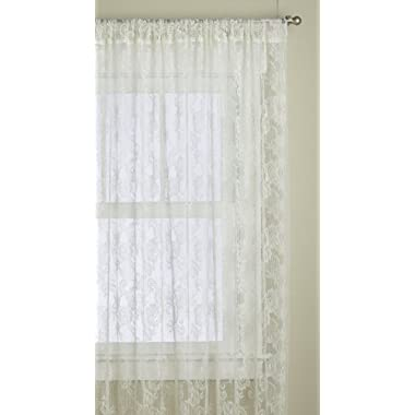 Lorraine Home Fashions Monaco Super Wide Tailored Window Panel , 120 by 84-Inch, Antique Ivory, Set of 2