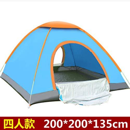 LUFEILI Vier-Mann wirft automatische Zelt 3-4 Personen Outdoor-Camping-Zelt