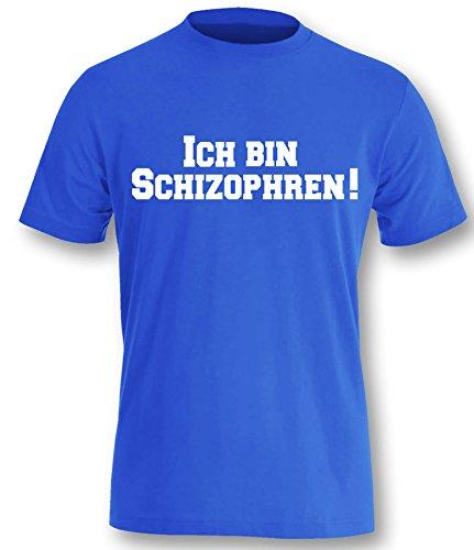 Luckja Ich bin Schizophren ! Ich auch !!! Herren T-Shirt Royal-Weiss Grösse XXL