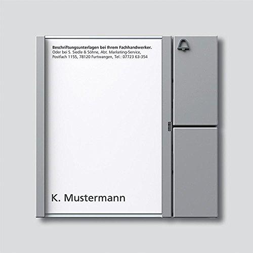 Siedle 2544203 Tastenmodul 1 Taste 1 mit N-System, TM 612-1 SM, silber metallic