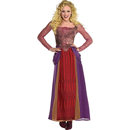 Party City Sarah Sanderson Halloween Costume for Women, Hocus Pocus, Large/Extra Large, Dress with Faux Bodice
