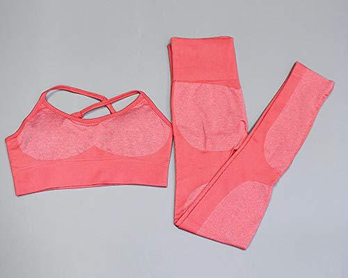 qqff Body de Salto elástico,Traje de Yoga de Dos Piezas,Traje de Gimnasia,Traje de Baile-Traje Rosa_L,Ropa Deportiva de Patinaje sobre Ruedas