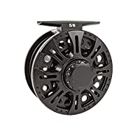 Aventik Z Fly Reel Center Drag System Classic III Graphite Large Arbor Sizes 3/4, 5/6, 7/8 Fly Fishing Reels(3/4)