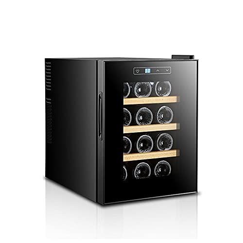SXRKRZLB Gabinete del Vino Pequeño refrigerador refrigerado Fashion Fashion Electronic Wine Cooler Roble Estantería para Cocina, Comedor y Sala de Estar