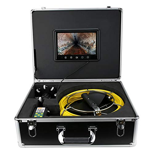 logozoee Cámara de inspección del boroscopio, cámara de Serpiente 98.4ft 360 °(European Standard (100-240v))