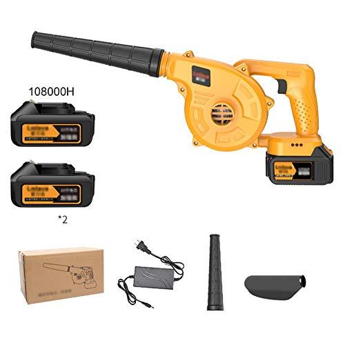 ASDFGHT Sopladora de Hojas eléctrica - Sopladora y aspiradora de jardín 3 en 1 - Aspiradora y trituradora Ligera, Cambio de Velocidad Continuo (Size : Battery*2)