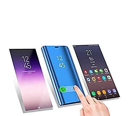 BIKANA Funda Compatible para Samsung Galaxy M20 Carcasa Visión Clara Marco de Pantalla Transparente Flip Plegable Caja con función De Soporte A Prueba de Golpes y arañazos Funda-Oro