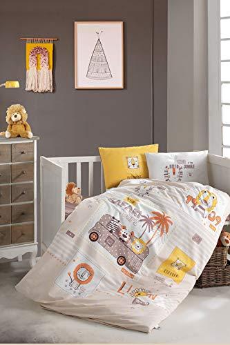BEKATA Dekbedovertrekset voor baby's en peuters Dekbedovertrek + Kussensloop + Bedlaken, totaal 4 stuks, anti-allergie Met Comforter 5 stuks